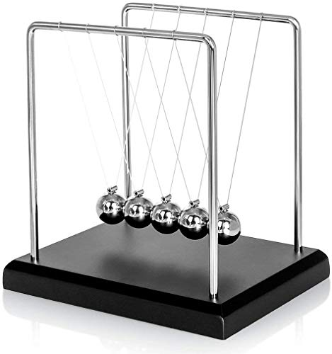 Newton's Cradle Balance Balls, TIAN Science Physic Psychology Educational Kits, Pendulum Desk Toy Gadget for Kids and Office Decoration
