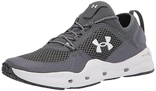 Under Armour Women's Micro G Kilchis Sneaker, Pitch Gray (100)/White, 9