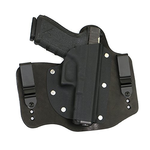FoxX Holsters Compatible for Glock 20 & 21 Inside The Waistband Hybrid Holster (Black)