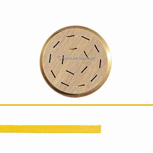 Teigwareneinsatz Fettuccine Tagliatelle 8 mm für professionelle Nudelmaschine VIP/2 2,8 kg und VIP4 4kg kompatibel mit FIMAR MPF 2,5 und MPF 4 - Matrize aus Bronze