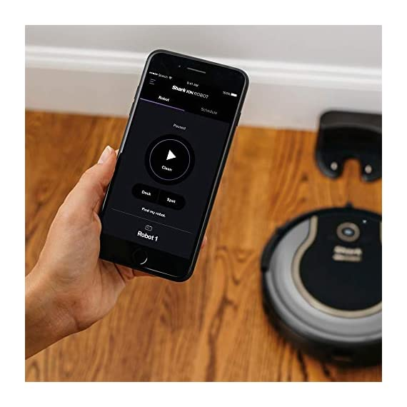 Shark RV750_N ION Robot Vacuum Cleaner Wi-Fi Automatic (Renewed) 3 Works with Alexa for voice control (Alexa device sold separately). Self-cleaning Brush roll captures short and long hair, dust, dander, and allergens to prevent everyday buildup in your home Smart sensor navigation seamlessly navigates floors and carpets while proximity sensors assess and adapt to surrounding obstacles