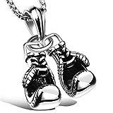 Holmeey Boxer Colgante de aleación de cinc, guantes de boxeo, cadena con colgante para coche, decoración de coche, regalo para hombre y mujer