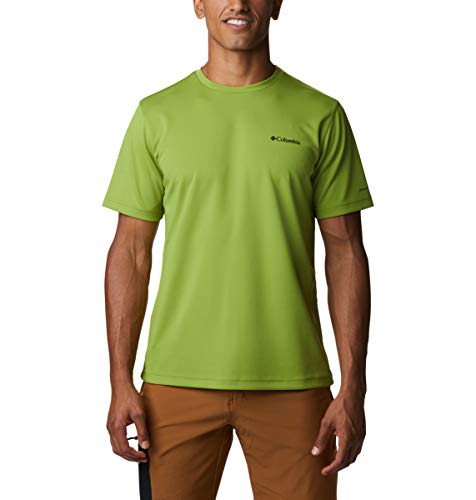 Columbia M Mist Trail Camiseta de Manga Corta para Hombre, M Mist Trail Camiseta de Manga Corta, Hombre, Color Matcha, tamaño Large