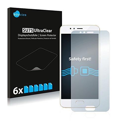 Savvies 6X Schutzfolie kompatibel mit Meizu M5s Bildschirmschutz-Folie Ultra-transparent