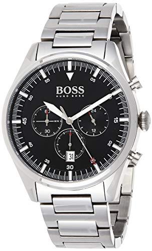 Hugo Boss Herren Chronograph Quartz Uhr mit Edelstahl Armband 1513712