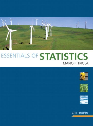 Essentials of Statistics (4th Edition) (Triola Statistics Series)