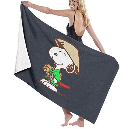 U/K Snoopy Samurai - Toalla de baño (secado rápido)