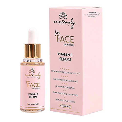 One&Only for face and neck - Vitamine C serum 30 ml, 3-0 ethyl ascorbinezuur, verjongend serum met vitamine C, anti-aging serum