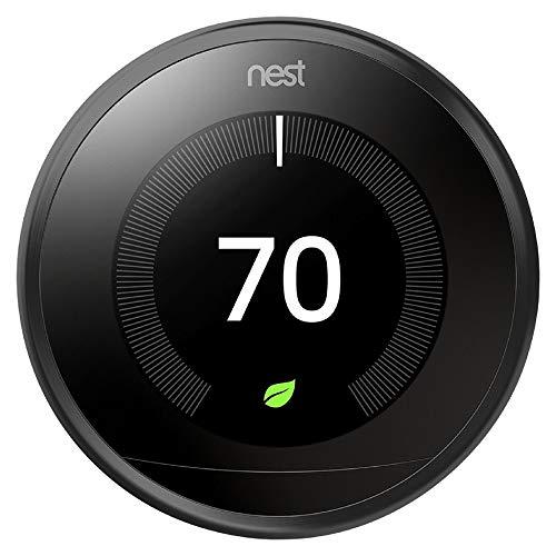 Nest Termostato Inteligente Negro 3era Generación, Funciona con Amazon Alexa