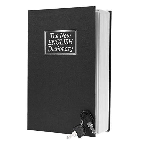 Caja de ahorro de dinero con forma de diccionario de inglés creativo, hucha de libro seguro con llaves en efectivo, cajas de ahorro
