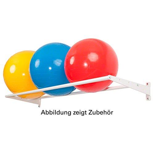 Wandhalterung Basismodul Ballregal Wandregal für Sporthallen, 4-tlg., 50x175 cm