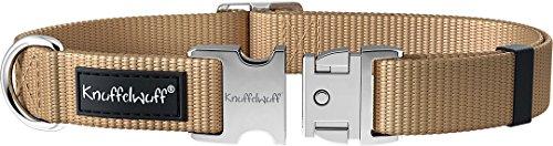 Knuffelwuff 13947-007 ALU Hundehalsband Active Beige, Nylon, 40-60cm