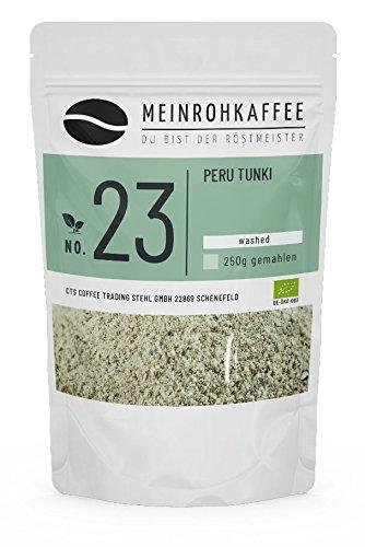 Rohkaffee - Peru Tunki (grüne Kaffeebohnen) - mild, sehr ausgewogen - 500g