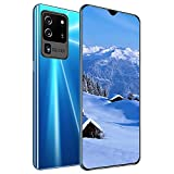 Unlocked Mobile Phone, Android Cell Phones with 6.6In Waterdrop Display, 3GB+32GB 5000mAh Dual SIM Card Dual Standby 32MP + 16MP HD Camera Smartphones with Face & Fingerprint Recognition, WiFi, GPS