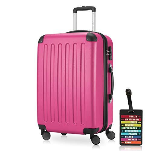 Hauptstadtkoffer - Spree Hartschalen-Koffer Koffer Trolley Rollkoffer Reisekoffer Erweiterbar, 4 Rollen, TSA, 65 cm, 74 Liter, Pink inkl....
