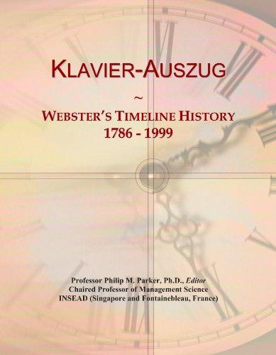 Klavier-Auszug: Webster's Timeline History, 1786 - 1999