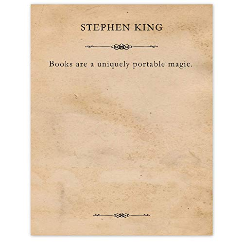 Stephen King, Books are a Uniquely...