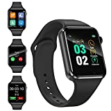 Sazooy Smart Watch, Fitness Trackers Touch Screen Smartwatch Fitness Watch with Camera Pedometer Sleep Monitor Music Player SIM SD Card Slot Compatible iOS iPhone Android Phones Men Women (Black)
