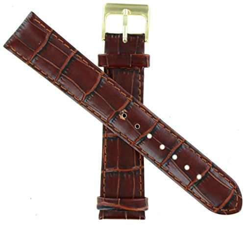 WBHQ 12mm Brown 462 Alligator Grain Watch Band