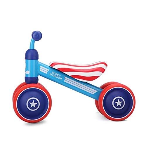 Dravitgrau Bicicleta Sin Pedales para Bebés de 1 Año, Triciclo Correpasillos hasta 2 años, Bici Aprendizaje de Equilibrio Diseño Superhéroe Capitán América Azul y Rojo, Regalo Original para Niños