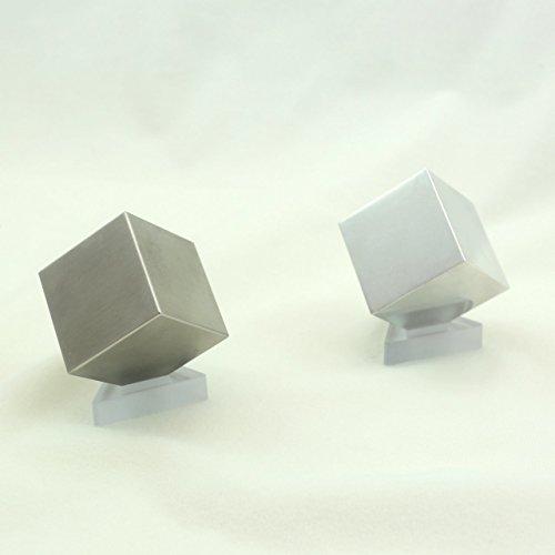 Tungsten & Aluminum Cube Set - 1.5' - One Kilo Tungsten & 150g Aluminum