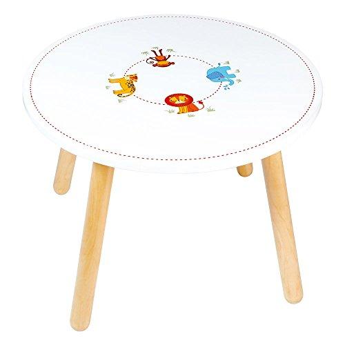 Tidlo Safari Tisch mit Tiermotiv, Holz
