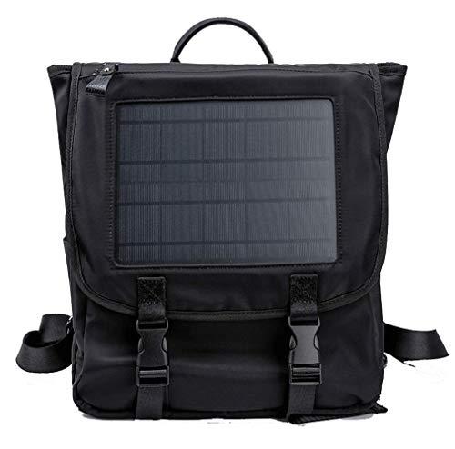 Sac à dos solaire, en plein air d'urgence solaire sac à dos d'affaires téléphone mobile de charge sac de voyage hommes casual flexible sac à dos de plein air