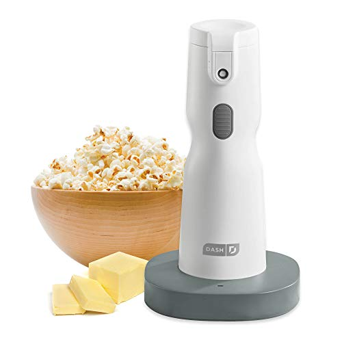 DASH DBD200GBWH04 Cordless Electric Butter Sprayer for Popcorn, Toast, Entrees & More, 2 oz, White