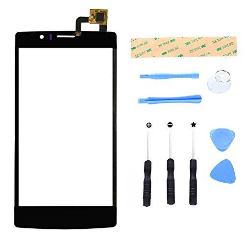Lusee Digitizer Bildschirm für Archos 50d Helium 4G 5.0 Ersatz Touch Screen Display Reparatur Touch Panel mit Werkzeug Set Schwarz