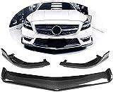 MFQO Adecuado para Mercedes Benz Clase CLS W218 Cls63 Amg Cls500 Sport 2011-2014 Fibra De Carbono CF Alerón De Barbilla Frontal Divisor De Parachoques Labio Delantero