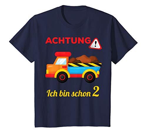 Kinder 2. Geburtstag Junge 2-jähriger 2 Jahre Lastwagen Geschenk T-Shirt