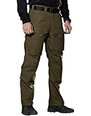 FREE SOLDIER Outdoorbroek met meerdere zakken, voor heren, werkbroek, van Teflon, tactische broek, waterdicht, wandelen, klimbroek