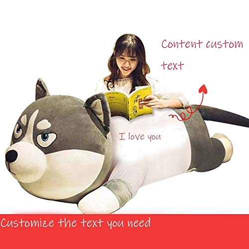 Tianma Technology Baby Plush Toys, Stuffed Animals, Plush Toys, Cute Pillow Stories For Birthday Gifts durable (Color : Husky off-white, Size : 80 cm)