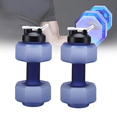 ORPERSIST Wassergefüllte Justierbare Sicherheit Dumbbells, Gewichtsverstellbare Hanteln Set Wasserflasche mit Anti-Rutsch-Griff für Muskelaufbau, Kraftaufbau,Blau