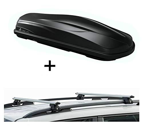 VDP Dakkoffer/bagagebox CUBE470 + raildrager CRV135 compatibel met Volkswagen Polo SW 96-01