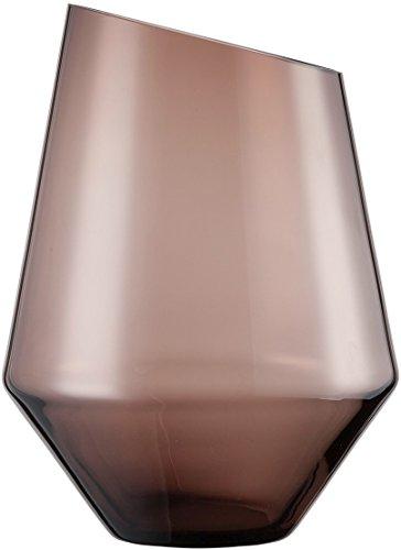 Zwiesel 1872 Diamonds vaas, glas, bruin, 28,4 x 28 x 23,5 cm