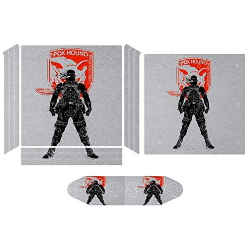 Metal Gear Solid Foxhound Big Boss Logo Compatible with PS4 Pro controller and console skin sticker protective cover wireless/wired gamepad controller