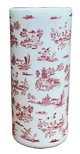 MarymaryGardens Rode Pagode Crackle Geglazuurde Keramische Paraplu Stand of Stick Stand of Vaas