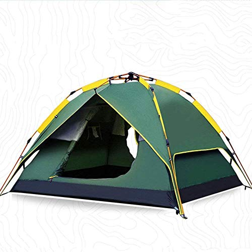 Qinmo 3-4 Person Family Dome Tent with Removable Rain Fly, Easy Set Up Combination-camping, internal account-gazebo, external account-awning