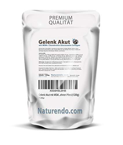 Naturendo.com Gelenk Akut mit MSM Chondroitin Glucosamin Collagen - 1200g - Gelenke Bänder Sehnen Pferd (1200g)
