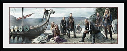 """Gedrucktes Bild mit Rahmen von GB Eye, Motiv """"Vikings Beach"""", 30 x 75 cm"""