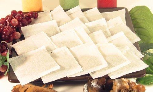 100 pcs Empty Teabags Heat Seal Filter Paper Herb Loose 2 x 3 Tea Bags