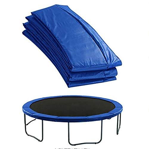 Hmpet Cubierta de Borde de Trampolín 183 244 305 366 427 cm, Repuestos de Cama Elástica Cubierta de Resorte de 30 Cm de Ancho, De PVC PE para Cama Elástica, Azul,183cm