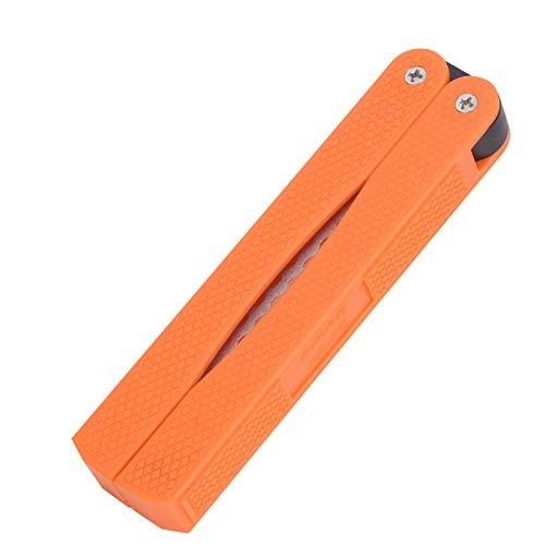 SALUTUYA Affûteuse de Couteau Pliable Durable Orange meule Double Face, pour la poussière de Diamant