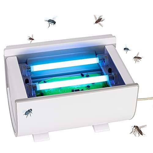 Gardigo Zanzariera Elettrica con Nastro Adesivo e Timer | Lampada Insetticida per Zanzare e Mosche | Trappola con Luce UV