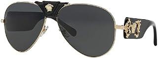 Versace VE2150Q Pilot Sunglasses For Men For Women+FREE Complimentary Eyewear Care Kit