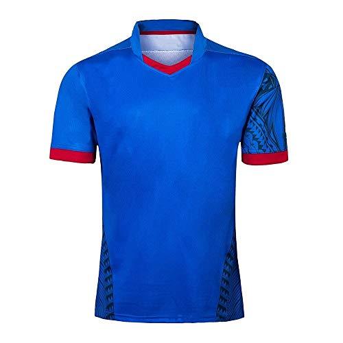 Axdwfd Rugby-Anzug 2019 Rugby Jersey, Japan WM Samoa-Style Heim- und Auswärts Fußball Kostüme Rugby Trikots Anzug (Size : XL)