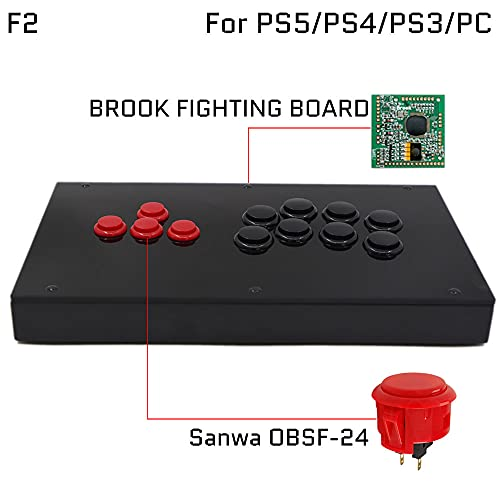 F2-PS All Buttons Arcade Joystick Game Controller for PS4/PS3/PC Sanwa OBSF-24 30 HITBOX
