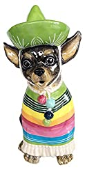 in budget affordable Chihuahua Ceramic Teapot Blue Sky Multicolor