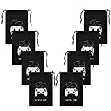 AhlsenL 24 Pack Video Game Party SuppliesGaming Party Bags Drawstring BagsGamingPartyDecorations for Kids Video Game Themed Birthday Party (Level UP!)